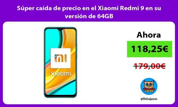 Súper caída de precio en el Xiaomi Redmi 9 en su versión de 64GB
