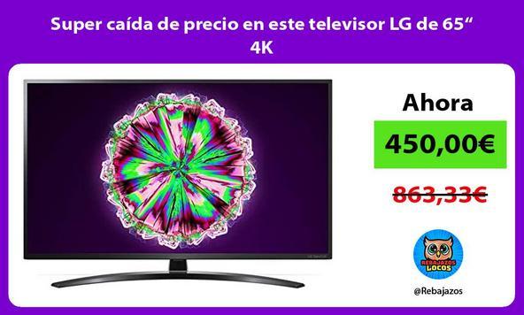 """Super caída de precio en este televisor LG de 65"""" 4K"""