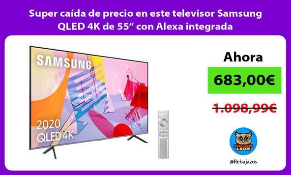 """Super caída de precio en este televisor Samsung QLED 4K de 55"""" con Alexa integrada"""
