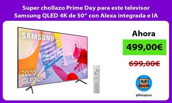 "Super chollazo Prime Day para este televisor Samsung QLED 4K de 50"" con Alexa integrada e IA"