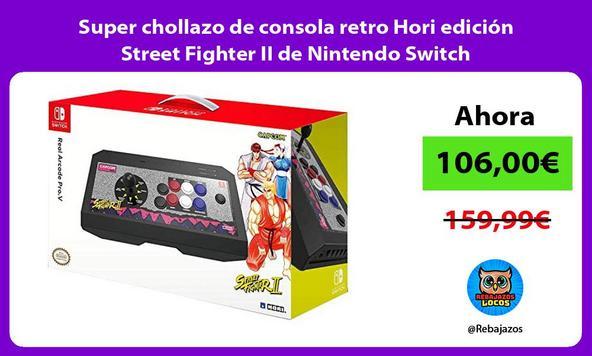 Super chollazo de consola retro Hori edición Street Fighter II de Nintendo Switch