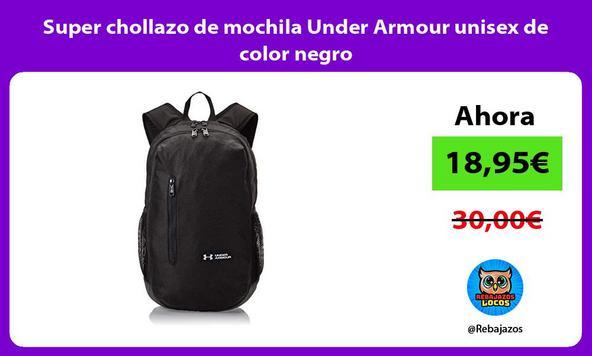 Super chollazo de mochila Under Armour unisex de color negro