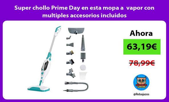 Super chollo Prime Day en esta mopa a vapor con multiples accesorios incluidos
