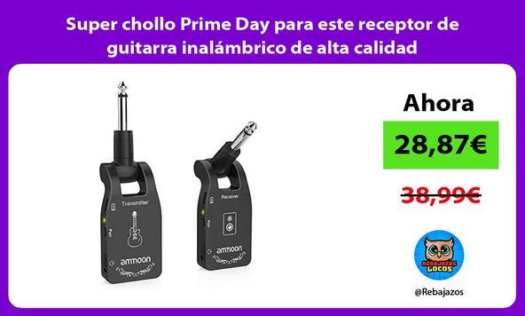 Super chollo Prime Day para este receptor de guitarra inalámbrico de alta calidad