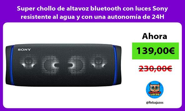 Super chollo de altavoz bluetooth con luces Sony resistente al agua y con una autonomía de 24H