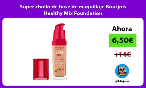 Super chollo de base de maquillaje Bourjois Healthy Mix Foundation