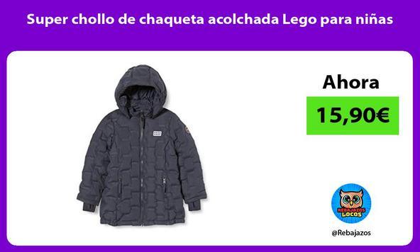 Super chollo de chaqueta acolchada Lego para niñas