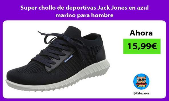 Super chollo de deportivas Jack Jones en azul marino para hombre