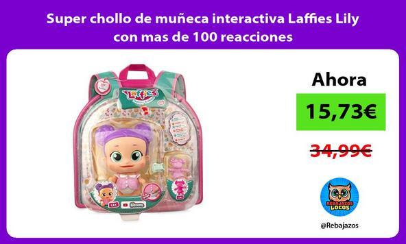 Super chollo de muñeca interactiva Laffies Lily con mas de 100 reacciones