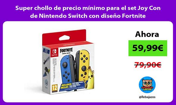 Super chollo de precio mínimo para el set Joy Con de Nintendo Switch con diseño Fortnite