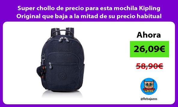 Super chollo de precio para esta mochila Kipling Original que baja a la mitad de su precio habitual