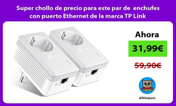 Super chollo de precio para este par de enchufes con puerto Ethernet de la marca TP Link