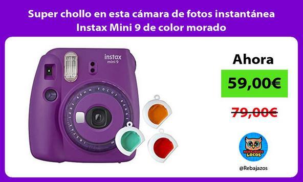 Super chollo en esta cámara de fotos instantánea Instax Mini 9 de color morado