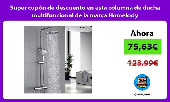 Super cupón de descuento en esta columna de ducha multifuncional de la marca Homelody