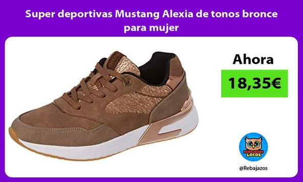 Super deportivas Mustang Alexia de tonos bronce para mujer