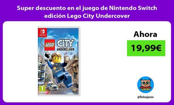 Super descuento en el juego de Nintendo Switch edición Lego City Undercover
