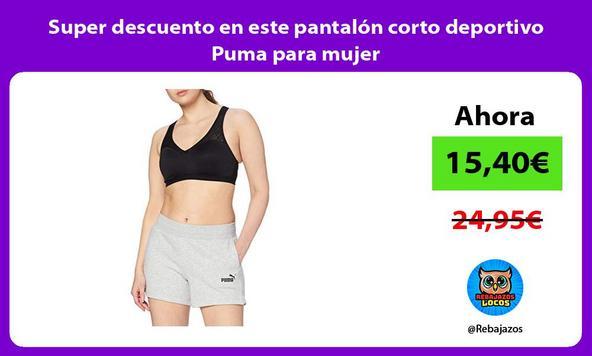 Super descuento en este pantalón corto deportivo Puma para mujer