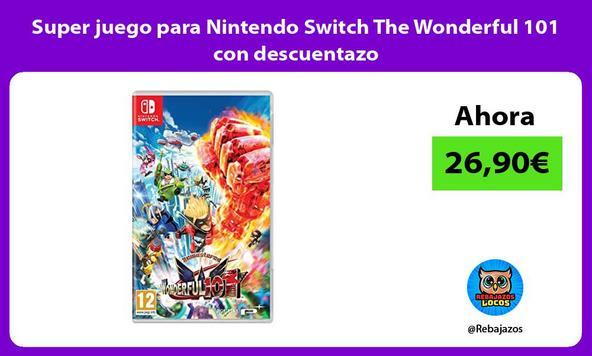 Super juego para Nintendo Switch The Wonderful 101 con descuentazo