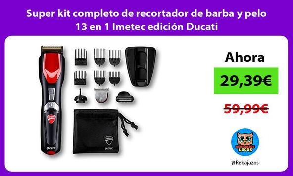 Super kit completo de recortador de barba y pelo 13 en 1 Imetec edición Ducati