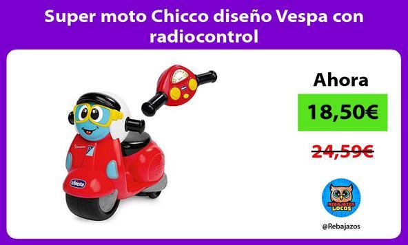 Super moto Chicco diseño Vespa con radiocontrol
