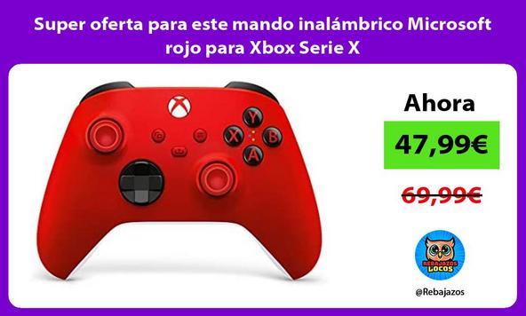 Super oferta para este mando inalámbrico Microsoft rojo para Xbox Serie X