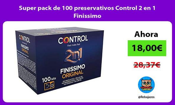 Super pack de 100 preservativos Control 2 en 1 Finissimo
