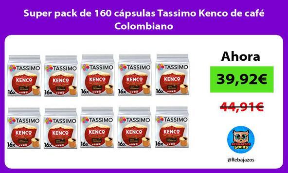Super pack de 160 cápsulas Tassimo Kenco de café Colombiano