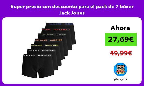 Super precio con descuento para el pack de 7 bóxer Jack Jones