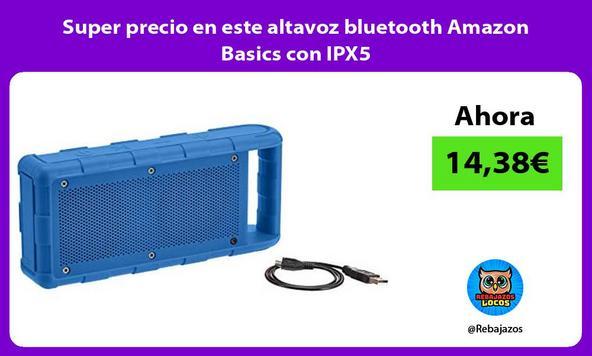 Super precio en este altavoz bluetooth Amazon Basics con IPX5