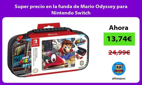Super precio en la funda de Mario Odyssey para Nintendo Switch