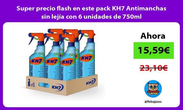 Super precio flash en este pack KH7 Antimanchas sin lejía con 6 unidades de 750ml