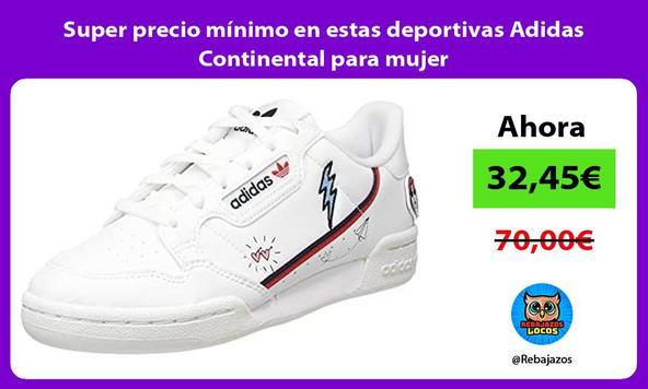 Super precio mínimo en estas deportivas Adidas Continental para mujer