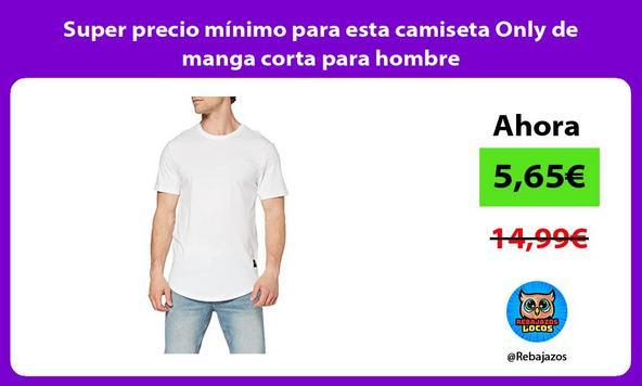 Super precio mínimo para esta camiseta Only de manga corta para hombre