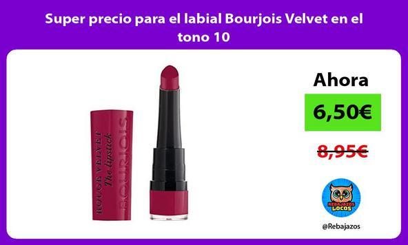 Super precio para el labial Bourjois Velvet en el tono 10