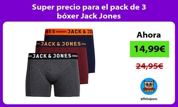 Super precio para el pack de 3 bóxer Jack Jones