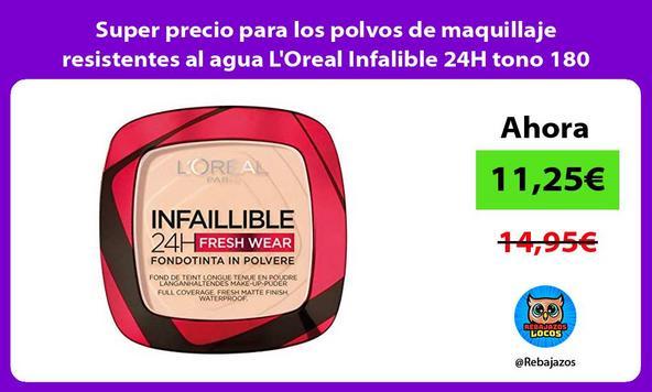 Super precio para los polvos de maquillaje resistentes al agua L'Oreal Infalible 24H tono 180