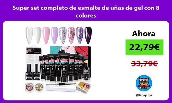 Super set completo de esmalte de uñas de gel con 8 colores