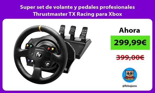 Super set de volante y pedales profesionales Thrustmaster TX Racing para Xbox