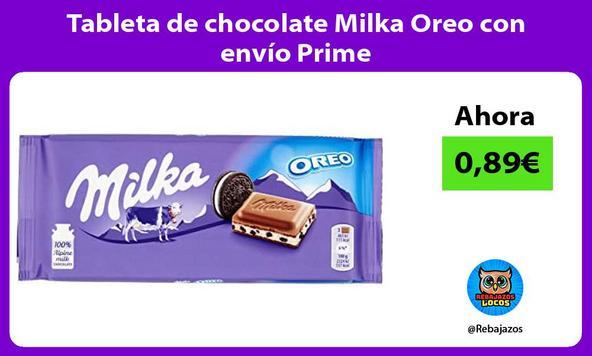Tableta de chocolate Milka Oreo con envío Prime