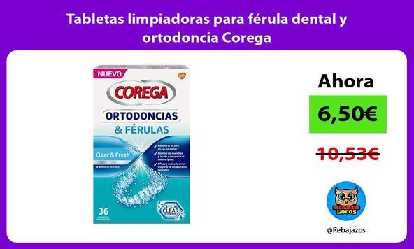 Tabletas limpiadoras para férula dental y ortodoncia Corega