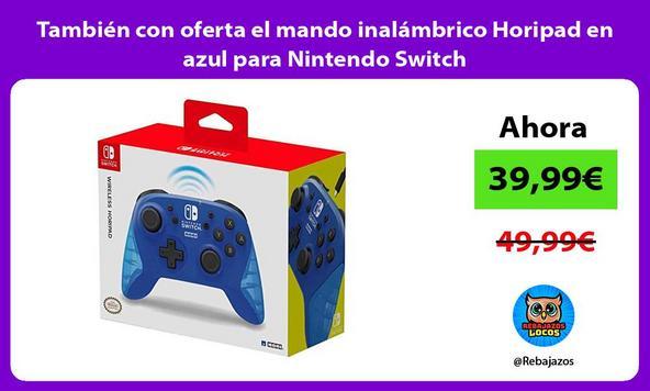 También con oferta el mando inalámbrico Horipad en azul para Nintendo Switch
