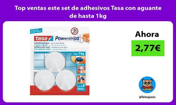 Top ventas este set de adhesivos Tesa con aguante de hasta 1kg