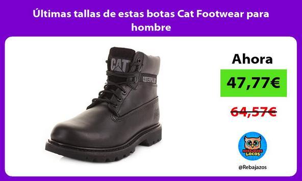 Últimas tallas de estas botas Cat Footwear para hombre