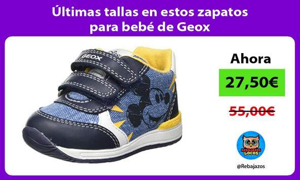 Últimas tallas en estos zapatos para bebé de Geox