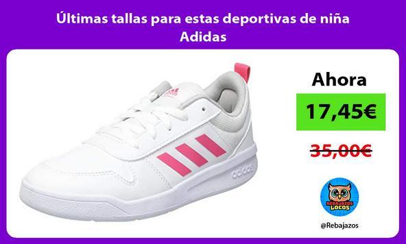 Últimas tallas para estas deportivas de niña Adidas