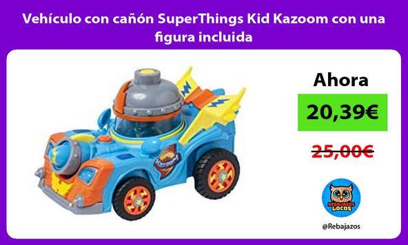 Vehículo con cañón SuperThings Kid Kazoom con una figura incluida