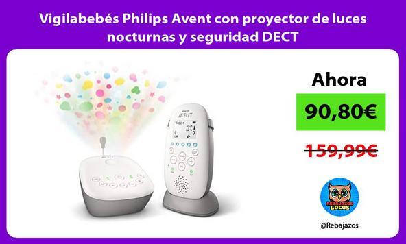 Vigilabebés Philips Avent con proyector de luces nocturnas y seguridad DECT
