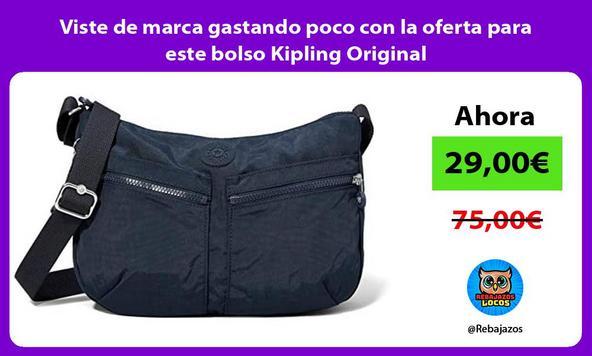 Viste de marca gastando poco con la oferta para este bolso Kipling Original