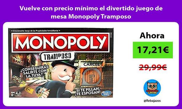 Vuelve con precio mínimo el divertido juego de mesa Monopoly Tramposo