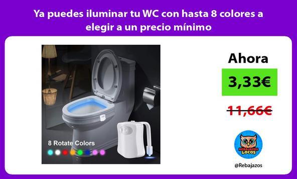 Ya puedes iluminar tu WC con hasta 8 colores a elegir a un precio mínimo